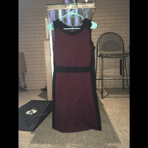Maroon and black medium dress